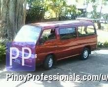 Car Rental - Passenger Vans for Hire/Rentals