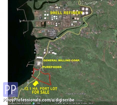 Land for Sale - Batangas City Industrial lot with Port Facilities - 12 hectares