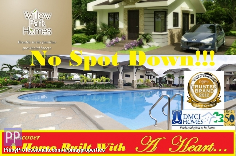 Land for Sale - Lots in Cabuyao, Laguna, WILLOW PARK HOMES by DMCI Homes, near Nestle Phils, No Spot Down, Resort-Inspired Communities! Call Us+632-218-5292