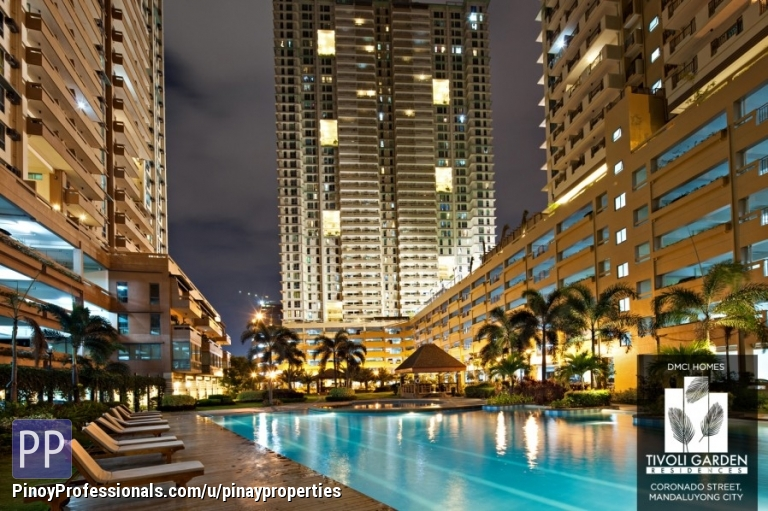 House for Sale - Condo in Mandaluyong, 2Br 50sqm, Tivoli Garden by DMCI Homes, near Makati AVe., Rockwell! Call 218-5292