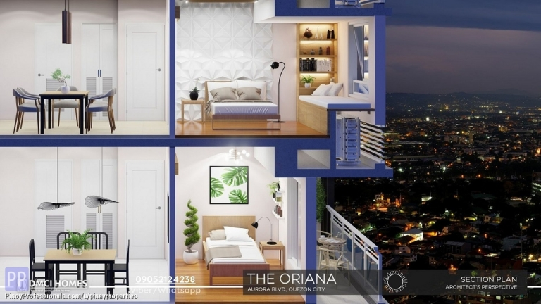 Apartment and Condo for Sale - 54sqm 2 Bedrooms Condo for Sale in Quezon City near Ateneo Call/Viber 0905.212.4238
