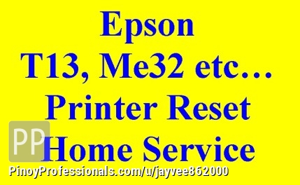 Epson T13, L100,82wd Etc  Printer Waste Ink Pad Reset Resetting