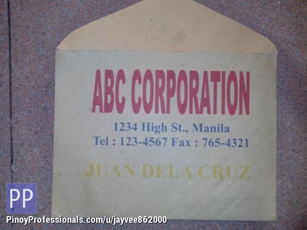 Brown Envelope Printing