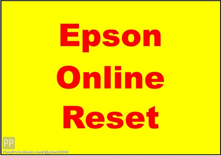 Specialty Services - Epson Printer Resetting Service