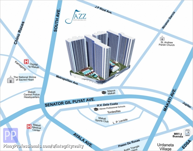 Short Term Rent Furnished Condo Units At Jazz Residences