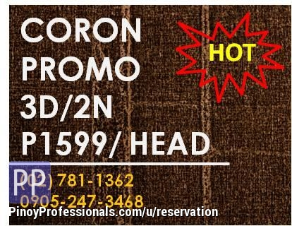 Vacation Packages - CORON -P1599 rates