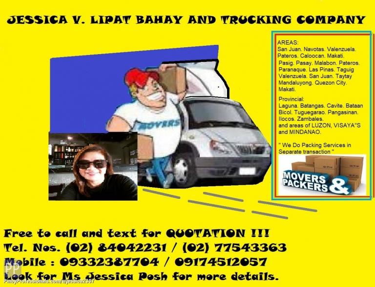Moving Services - JESSICA V. ENT LIPAT BAHAY AND TRUCKING COMPANY