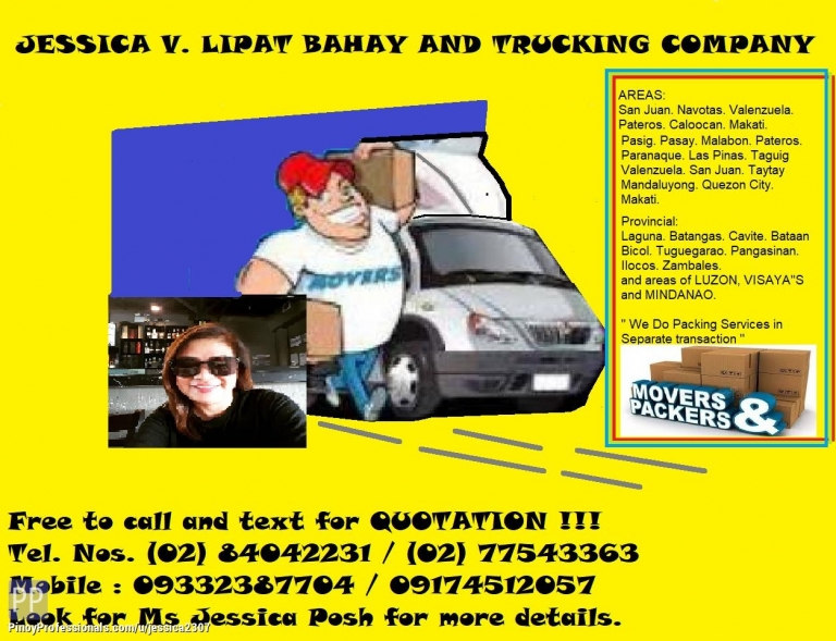 Transportation Services - JESSICA V. ENT LIPAT BAHAY AND TRUCKING SERVICES