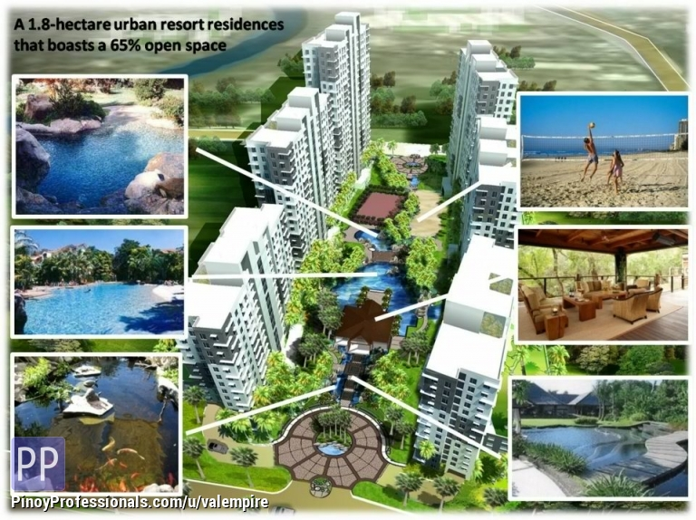 Apartment and Condo for Sale - KASARA URBAN RESORT CONDO. NEAR WOODSIDE CITY AND ACCESSIBLE GOING BGC. NO DOWNPAYMENT AS LOW AS $330 MONTHLY