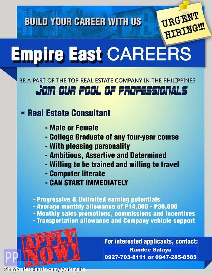 Banking and Real Estate - APPLY NOW AND GET HIRED ASAP! HIRING FOR ELITE REAL ESTATE CONSULTANTS