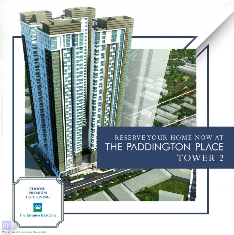 Apartment and Condo for Sale - MANDALUYONG CONDO FOR SALE NEAR MRT EDSA SHAW STATION. THE PADDINGTON PLACE CONDO