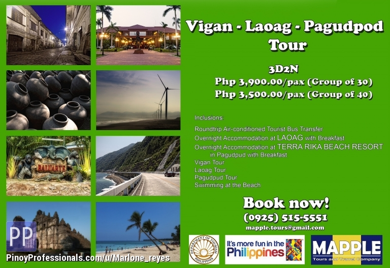 Vacation Packages - ILOCOS TOUR