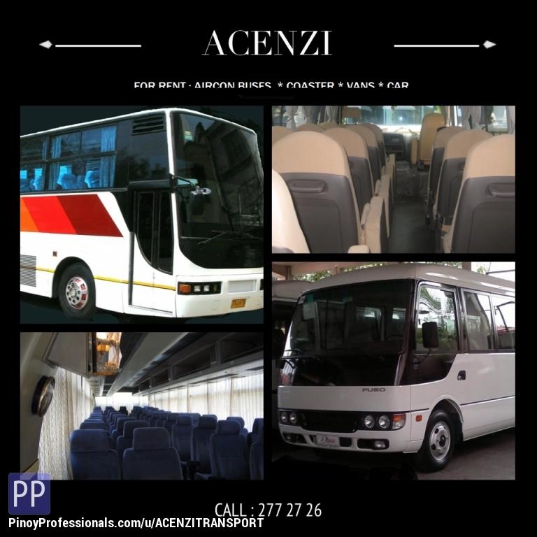 Transportation Services - TOURIST bus For Rent (02) 277 2726 / 7104681 (0905) 4899365