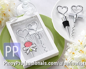 Arts and Crafts - Wedding Wine Bottle Stopper Souvenir Giveaway Novelty Item Philippines