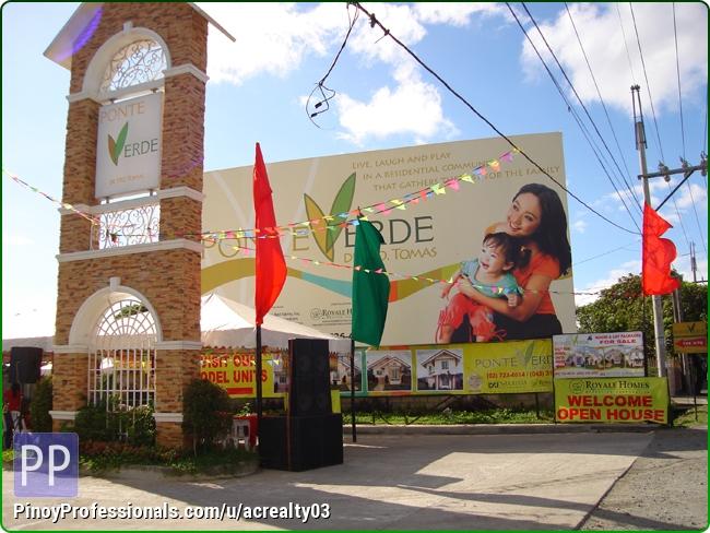 Land for Sale - PONTE VERDE STO TOMAS BATANGAS