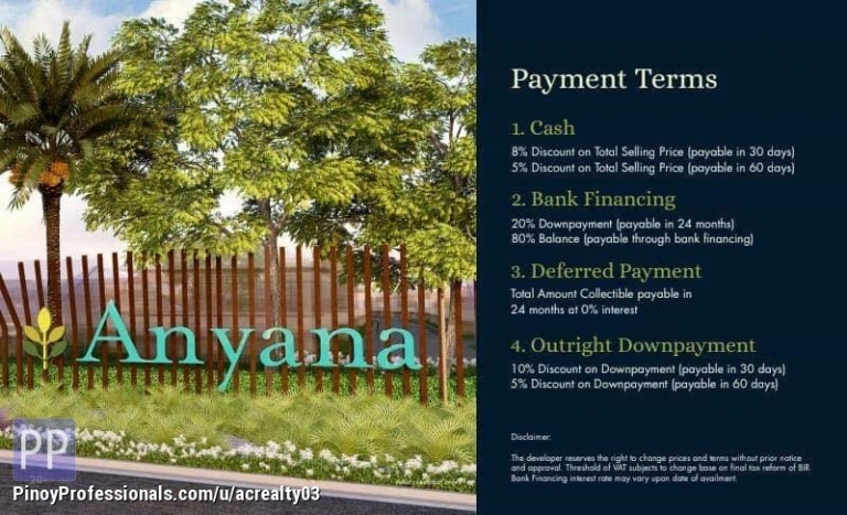 Land for Sale - 125 Sqm Lot For Sale Anyana Bel Air Tanza Cavite