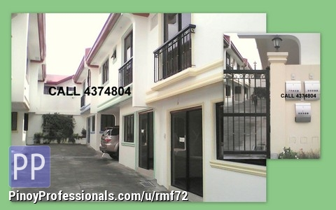 townhouse in area batasan hills quezon city for sale