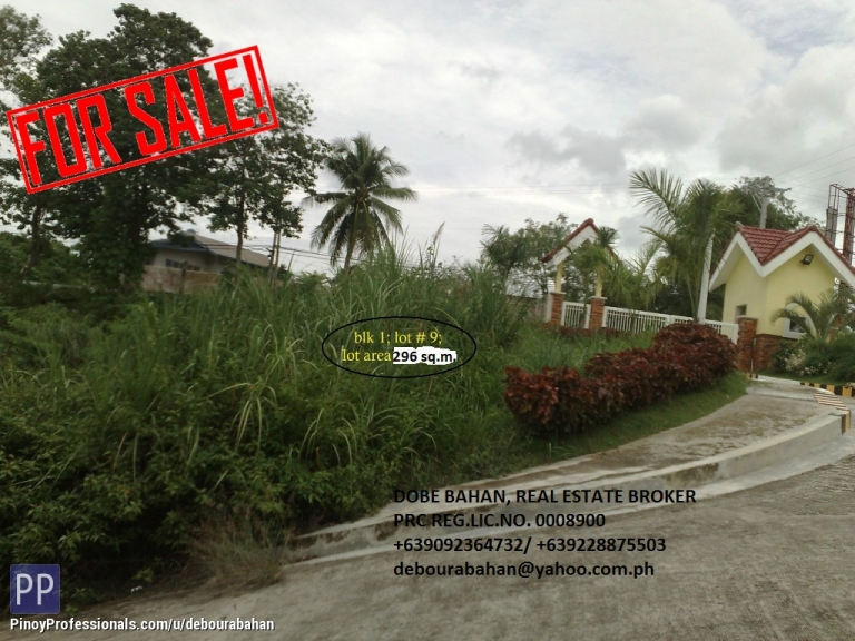 Land for Sale - 296 sq.m. Residential Lot for sale at Vista Montana, Mandaue City, Cebu