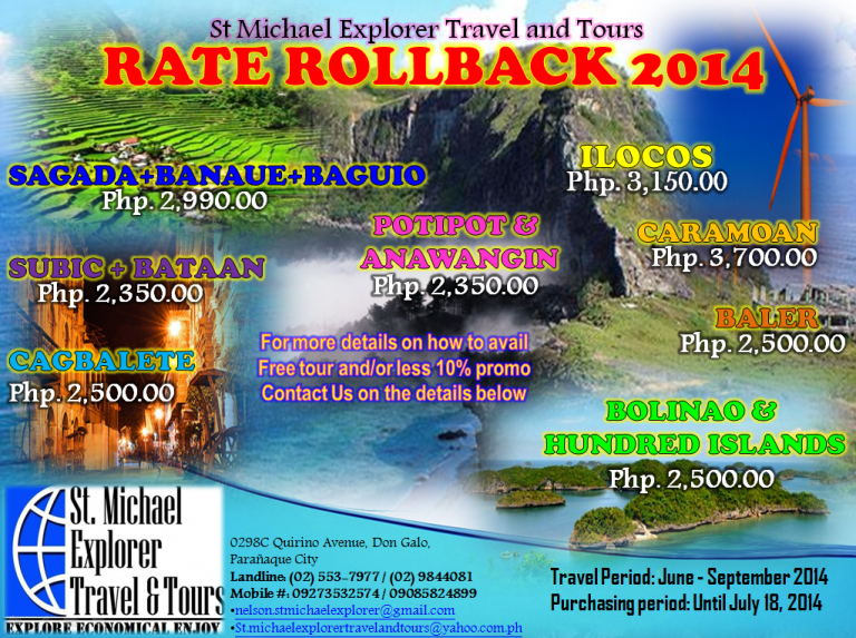 Travel Destinations - 2014 Rate Rollback Prom