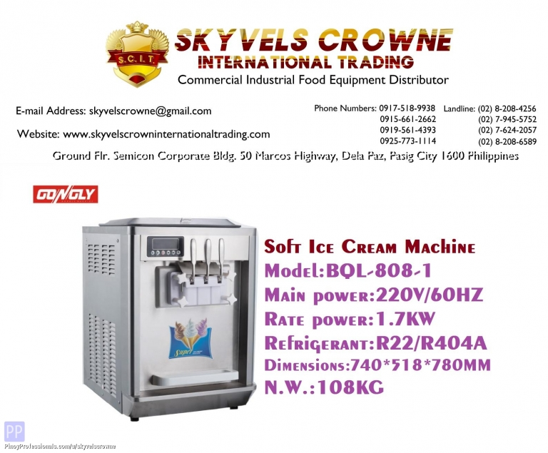 Everything Else - Soft Ice Cream Machine Counter Top BQL-808-1