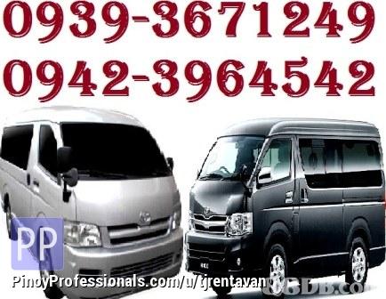 Transportation Services - ***TJ RENT A VAN***