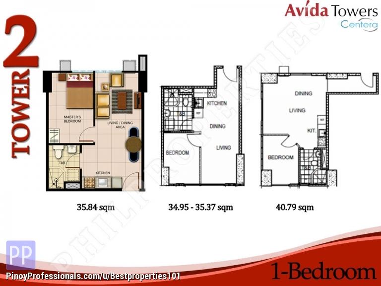 Condo In Mandaluyong 1bedroom Avida Towers Centera Real