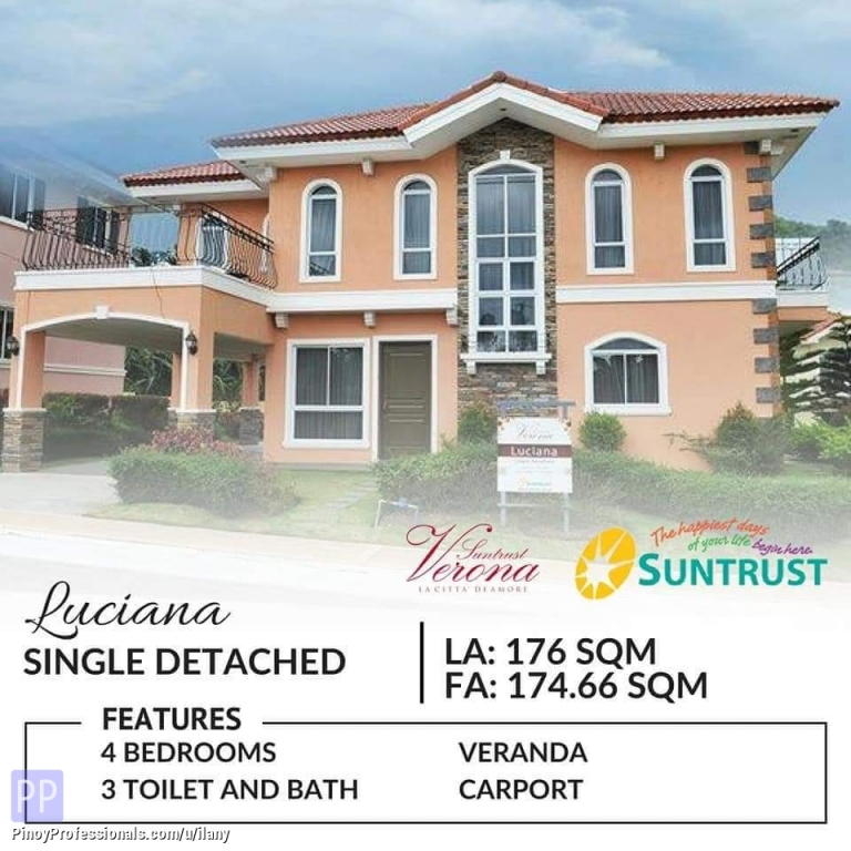 House for Sale - 4 bedroom House and Lot for Sale in Silang-Tagaytay City Along the Highway Suntrust Verona
