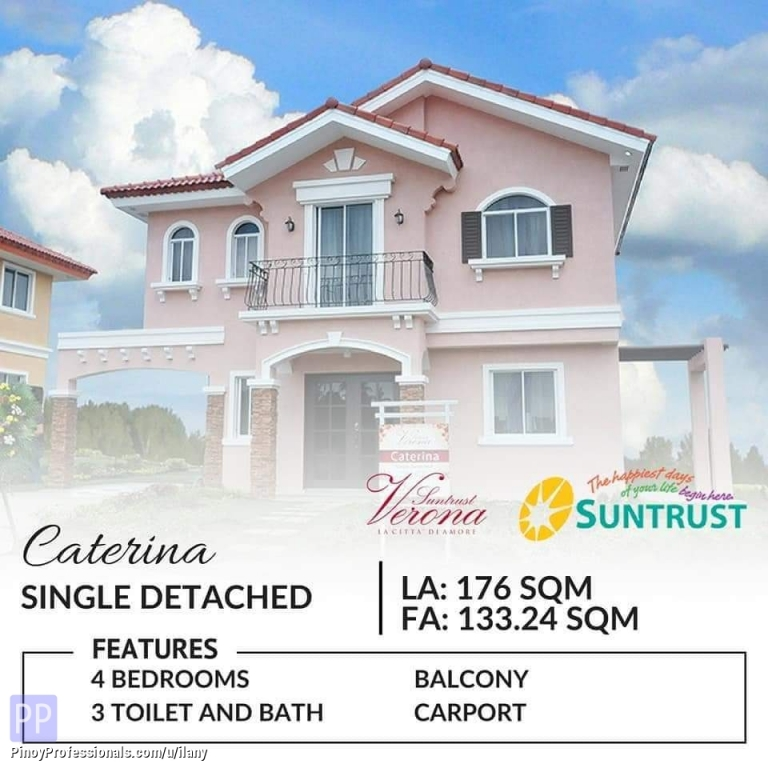 House for Sale - Single detached 4 bedrooms House and lot for sale near Tagaytay Cavite Suntrust Verona
