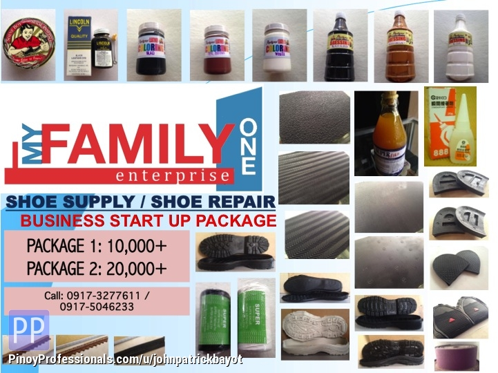 Business Opportunity - Shoe Repair Materials for Sale, My Family One Enterprise