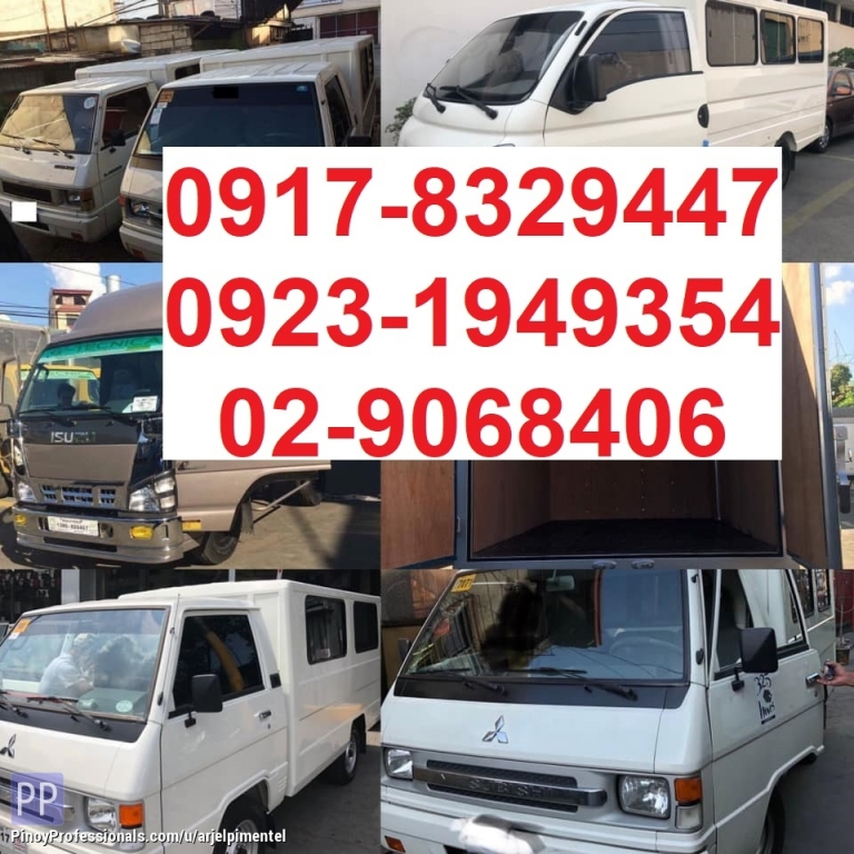 Moving Services - Closed van truck for rent. lipatbahay. delivery cargo