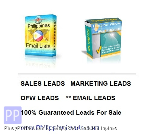Everything Else - Leads For Sale Email Cellphone High Networth OFW Card Holder 100% guarantee Email Blasting