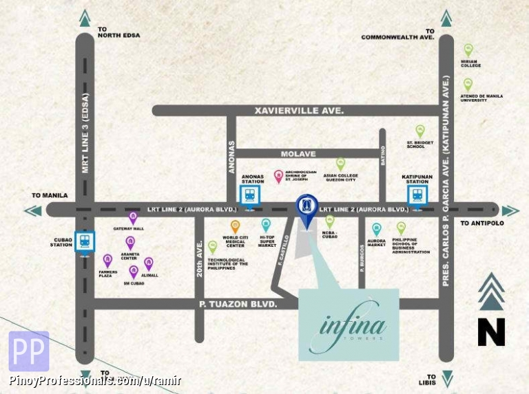 Apartment and Condo for Sale - affordable condo for sale in quezon city. infina towers by dmci homes