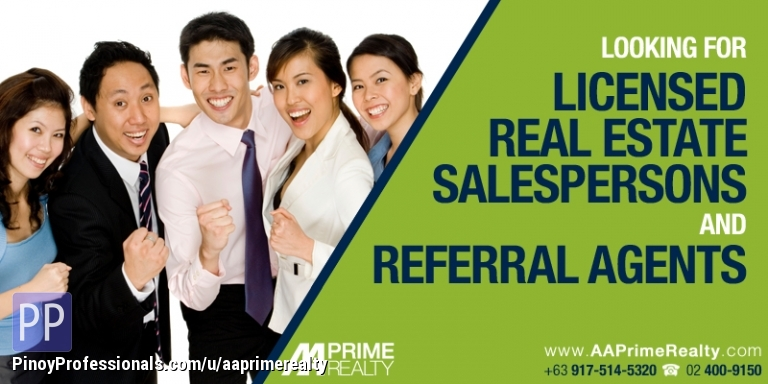 Work from Home - Part-Time Licensed Real Estate Salesperson and Referral Agents