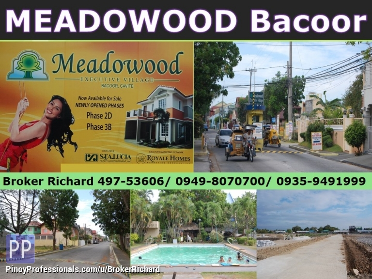 Land for Sale - MEADOWOOD Bacoor Cavite Lots = 7,900/qm