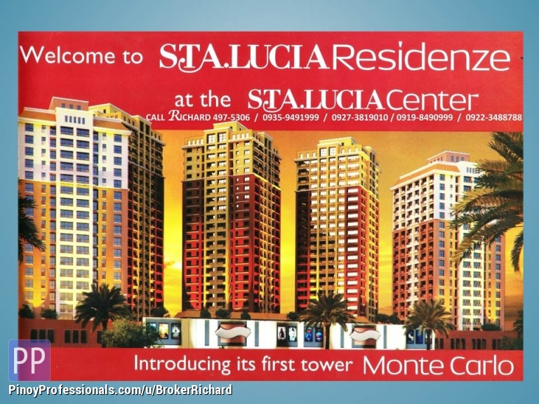 Apartment and Condo for Sale - MONTECARLO CONDO @ Sta Lucia Mall = 2,340,000