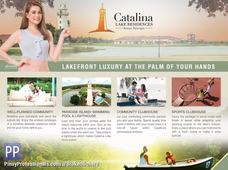 Land for Sale - CATALINA Lake Residences Residential/COmmercial Lots - 6,500/sqm