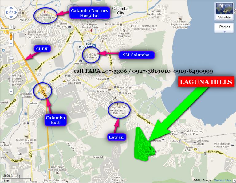 LAGUNA HILLS Calamba Laguna Limited Lots For Sale - Calamba city map