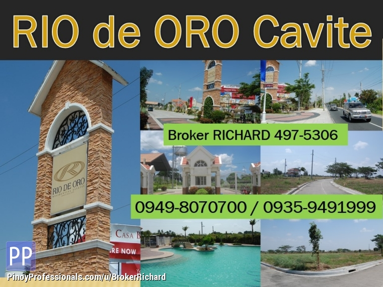 Land for Sale - RIO de ORO Gen Trias Cavite LOW PRICED Lots = only 3,800/sqm