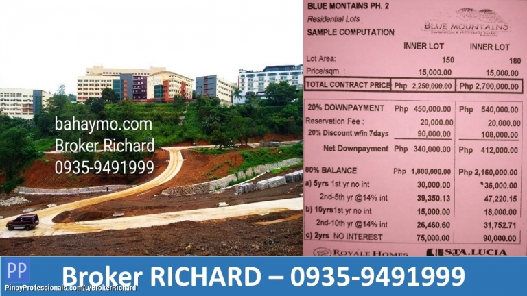 Land for Sale - ANTIPOLO LOTS @ BLUE MOUNTAINS Sumulong Hiway