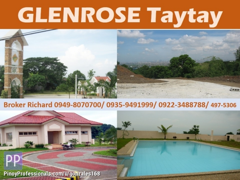 Land for Sale - GLENROSE TAYTAY Phase 3B Subdivision LOTS = 5,400/sqm