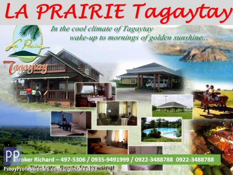 Land for Sale - LA PRAIRIE TAGAYTAY SUBDIVISION LOTS = 6,500/SQM
