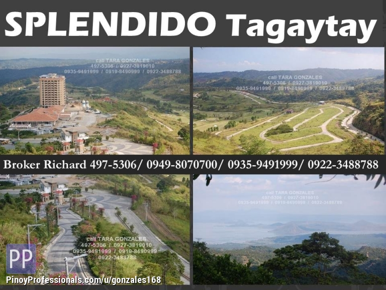 Land for Sale - SPLENDIDO TAGAYTAY SUBDIVISION LOTS = 10,800/SQM