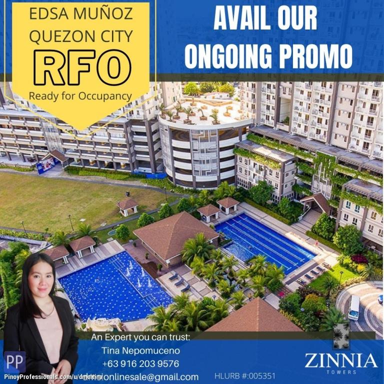 Apartment and Condo for Sale - 1 BEDROOM CONDO UNIT FOR SALE 27SQM READY TO MOVE IN - EDSA MUNOZ QUEZON CITY