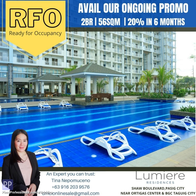Apartment and Condo for Sale - 2 BEDROOM 56SQM CONDO UNIT FOR SALE IN PASIG NEAR BGC Taguig City