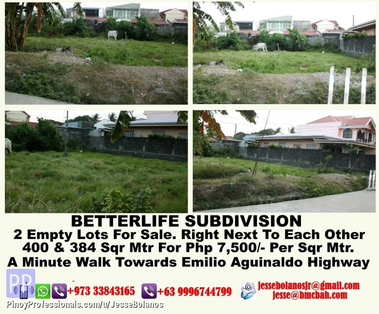 Land for Sale - For Sale Lots In Imus, Cavite, Philippines - 4103