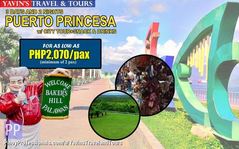 Travel Destinations - 3D2N Puerto Princesa Package with PPS City Tour