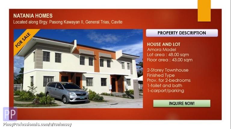 House for Sale - natania homes in Gen trias cavite thru bank financing