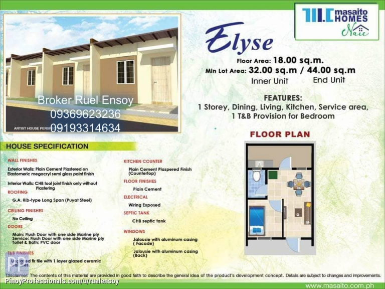House for Sale - No downpayment housing thru pag ibig in naic cavite