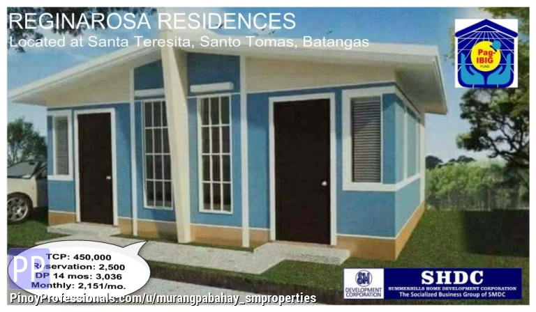 House for Sale - bahay at lupa thru pag ibig 2500 to reserve