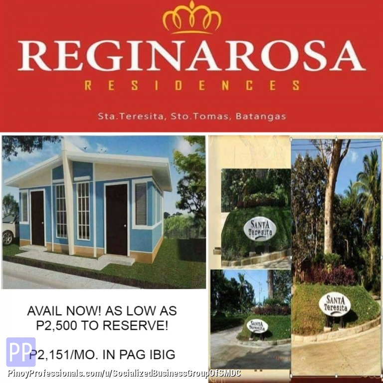 House for Sale - Reginarosa Residences up coming to develop the Convenient Store